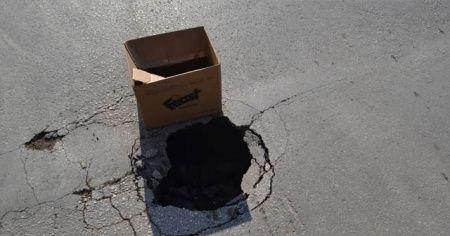İnegöl'de en işlek cadde çöktü