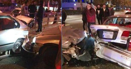 İzmir'de asker uğurlama konvoyu kaza yaptı