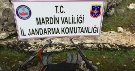 Mardin'de mühimmat ve yaşam malzemesi ele geçirildi