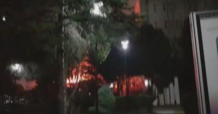 Marmara Üniversitesi Göztepe Kampüsü'nde yangın