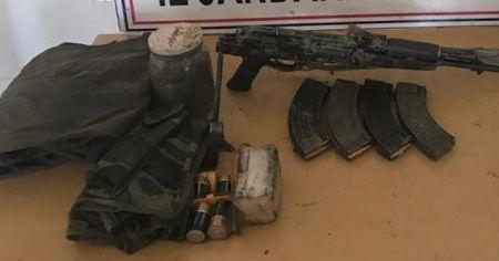 PKK'nın silah ve mühimmatı ele geçirildi