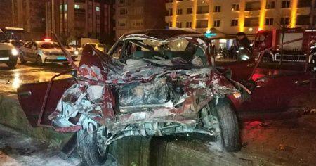 Samsun'da 5 aracın karıştığı kazada 4 kişi yaralandı
