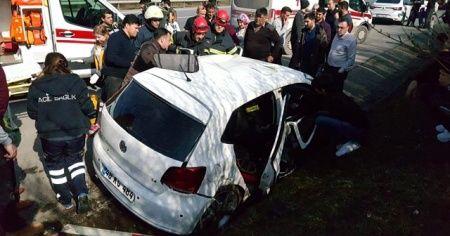 TEM'de yasak dönüş kaza getirdi: 7 yaralı
