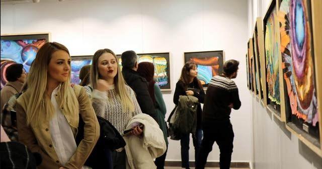 """""""Yüzde 100"""" resim sergisi açıldı"""