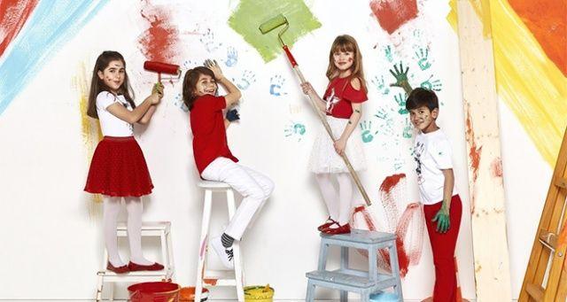 23 Nisan coşkusu ile tüm çocuklar rengarenk