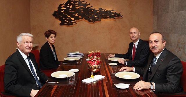 Bakan Çavuşoğlu Avrupa Konseyi Genel Sekreteri Jagland ile görüştü