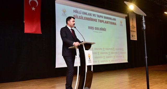 Bakan Murat Kurum tapu ve imar sorularını cevapladı