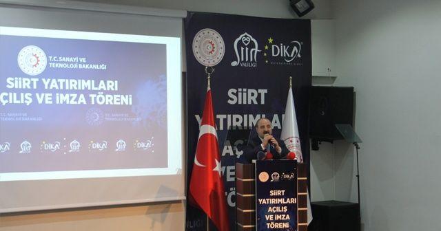 """Bakan Varank: """"Siirt'te 3 milyon 800 bin avroluk projeye başlıyoruz"""""""