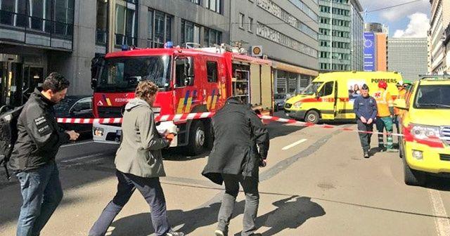 Brüksel'de bomba alarmı! Bazı binalar boşaltıldı