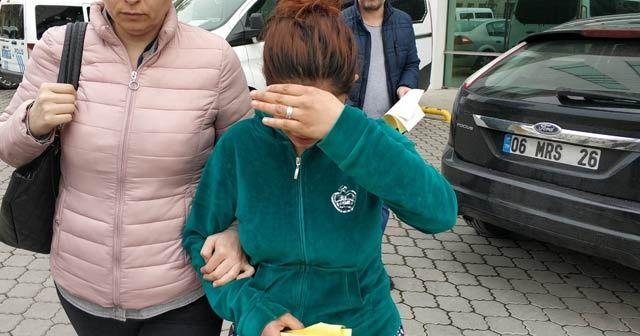 Çantalardan cep telefonu çalan hamile kadın tutuklandı