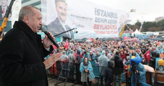 Cumhurbaşkanı Erdoğan: Benim bayrağımı yakan namussuzlarla CHP kol kola