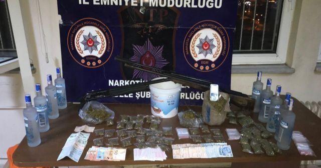 Edirne'de uyuşturucu operasyonu: 14 gözaltı