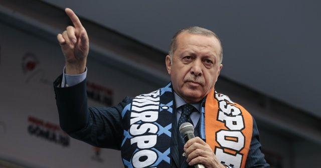 Erdoğan: Taksim'de CHP ve HDP'nin öncülüğünde kadınlar günü için bir araya gelen grup ezana terbiyesizlik ettiler