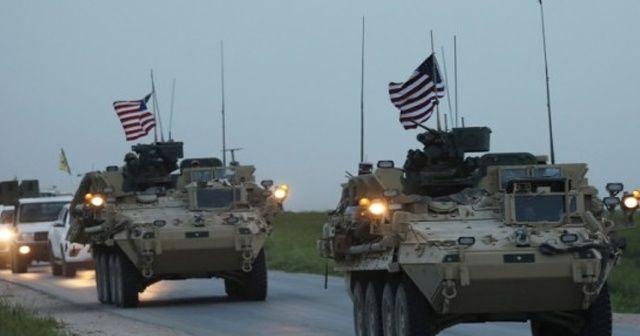 Kamışlı'da ABD konvoyu hareketliliği