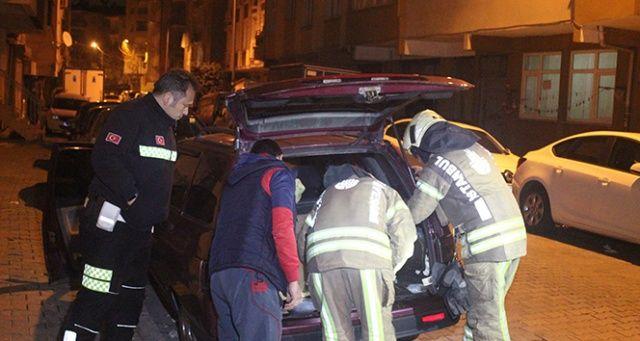 LPG'li araçtan sızan gaz mahallede paniğe neden oldu