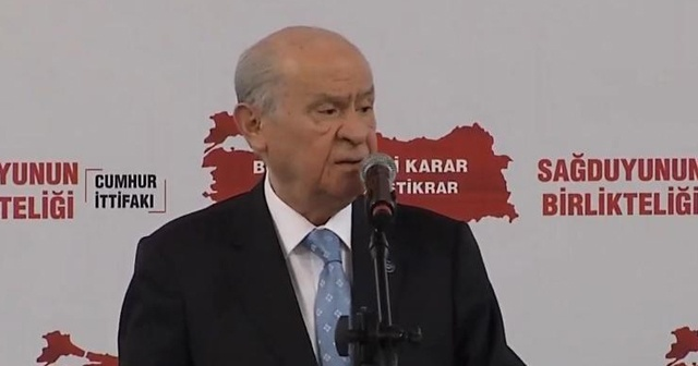 MHP Genel Başkanı Bahçeli: Zillet ittifakı Kürdistan hayali kuruyor