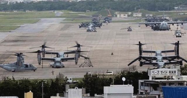 Okinawa'da ABD üssünün inşasına başlandı