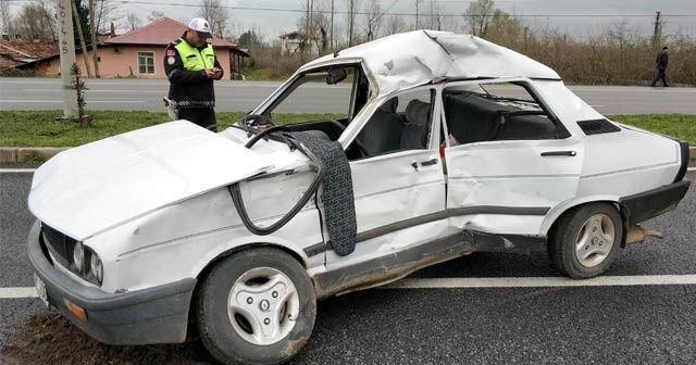 Samsun'da kamyon otomobile çarptı: 1 ölü