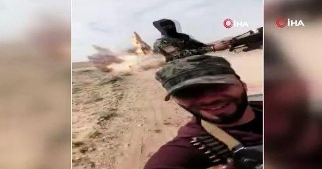 Suriye'de mayın patlama anı kameraya yansıdı