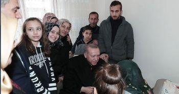 Cumhurbaşkanı Erdoğan'dan çat kapı çay ziyareti