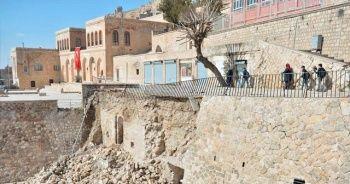 İstinat duvarı yıkılınca Muhammed El Gazi Mescidi'nin kalıntısı bulundu
