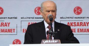 MHP lideri Bahçeli: CHP, PKK'nın kuyruğuna takılmış, FETÖ'nün vagonu olmuştur