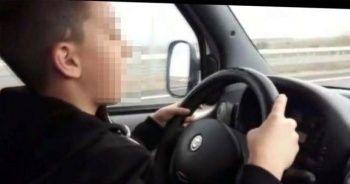 Oğluna hafif ticari aracı kullandırdı, 'Polisi boş ver' dedi
