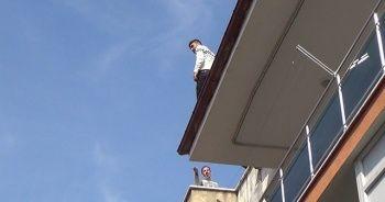 Şehri ayağa kaldıran cezaevi firarisi çatıda yakalandı