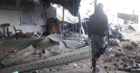 İsrail'in saldırıları nedeniyle bir cami kullanılmaz hale geldi