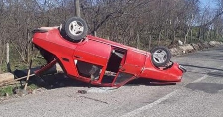 Ordu'da otomobil takla attı: 1 yaralı