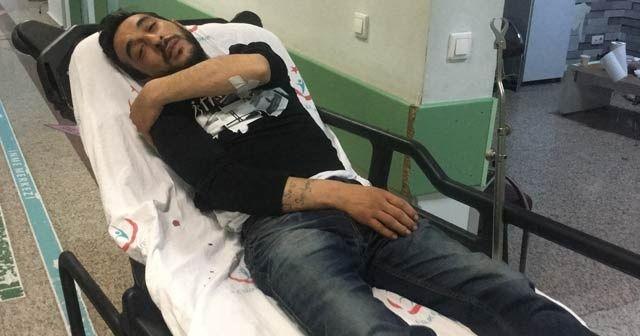 Barfiks çekmek için asıldığı pota devrilince yaralandı
