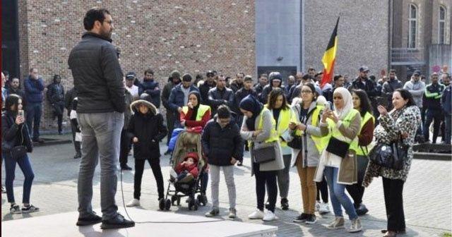 Belçika polisinin öldürdüğü Faslı Mohamed sessiz bir eylemle anıldı