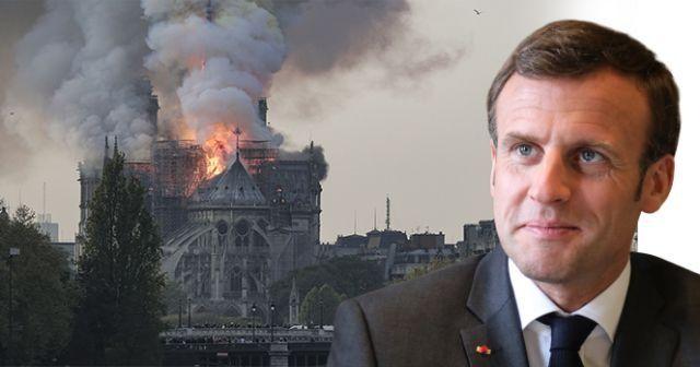 Macron'dan 'Notre Dame' açıklaması
