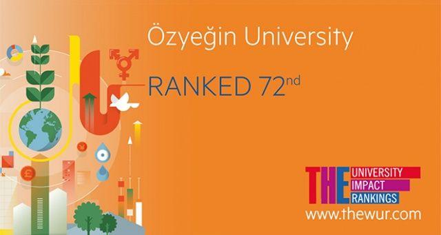 Özyeğin Üniversitesi 'THE Impact' sıralamasında