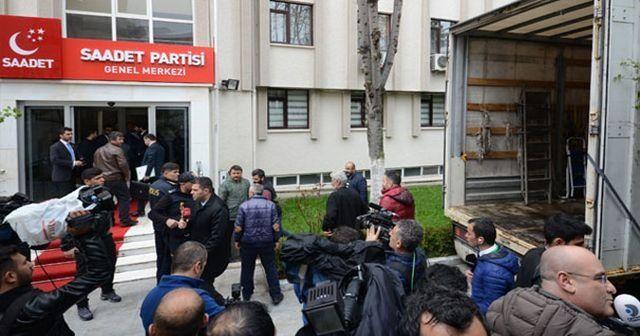 Saadet Partisi Genel Merkezi'ne tahliye