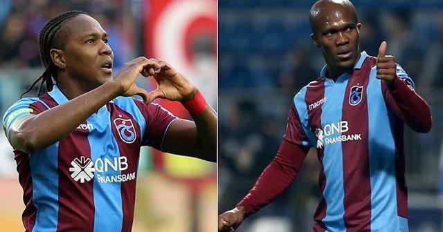 Trabzonspor'un golcü ikilisi Rodallega-Nwakaeme