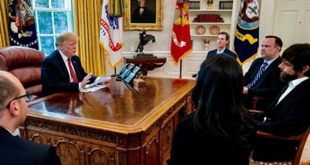 Trump, Twitter CEO'su Dorsey ile görüştü