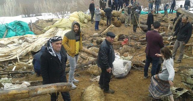 Van Çatak'ta hır çöktü 374 küçükbaş hayvan telef oldu