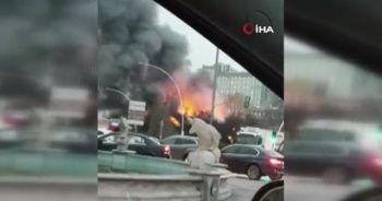 Başkent'te kafe alev alev yandı