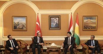 Çavuşoğlu, IKBY Güvenlik Konseyi Başkanı Mesrur Barzani ile görüştü