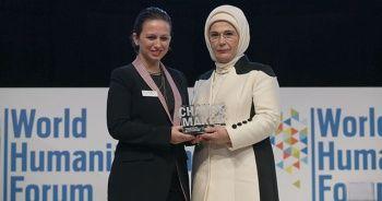 """Emine Erdoğan'a """"Changemaker"""" ödülü"""
