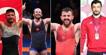 Güreşte dört madalya