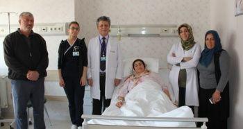 Kadının kadının karnından 13 kiloluk kitle çıktı