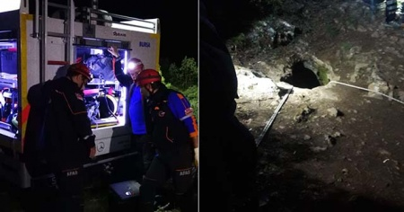 Mağarada mahsur kalan definecilerden 4 saat sonra güzel haber