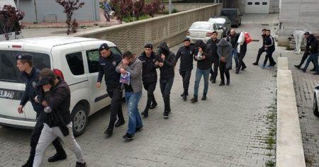"""Samsun'da """"torbacı"""" operasyonunda 12 kişi adliyede"""