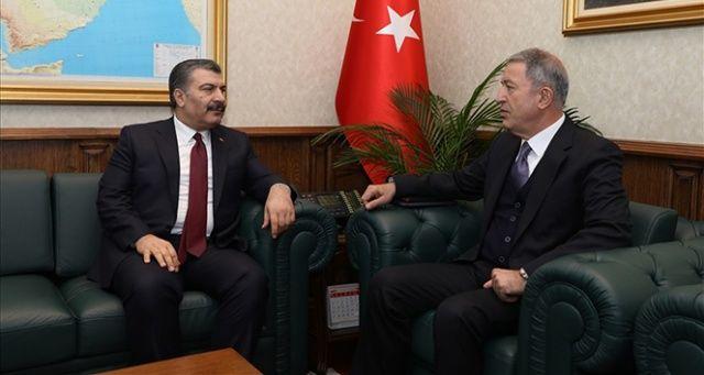 Bakan Akar ve Bakan Koca başkanlığında koordinasyon toplantısı