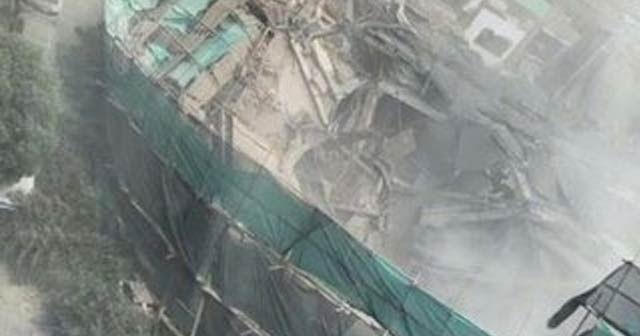 Çin'de bina çöktü: 20'den fazla kişi enkaz altında