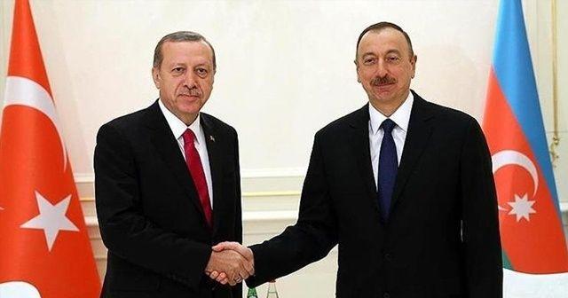 Cumhurbaşkanı Erdoğan'dan Aliyev'e kutlama mesajı