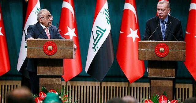 Cumhurbaşkanı Erdoğan: Irak ile askeri işbirliği ve güven anlaşmasının yapılmasına karar verdik