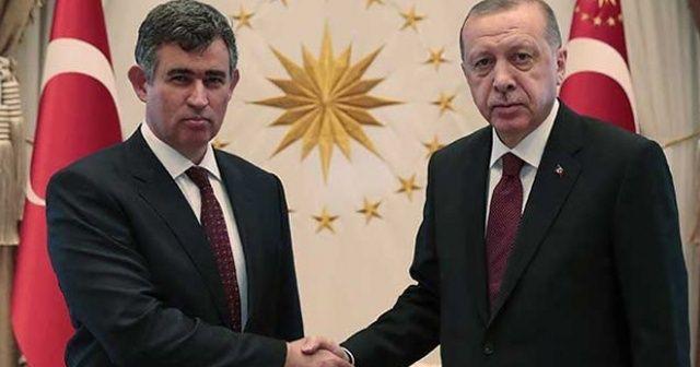 Cumhurbaşkanı Erdoğan, TBB Başkanı Metin Feyzioğlu'nu kabul etti